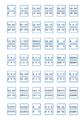 SR502 元帳用インデックスラベル(青) 20入