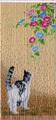スキルタペストリー  T380 猫と朝顔