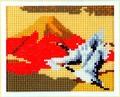 ミニギャラリー MG215 赤富士と鶴