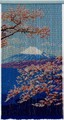 スキルタペストリー  T368 富士と桜
