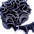 テトロンフリルレース(黒×シルバーフチ#23)