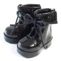 エナメルショートブーツ(黒)