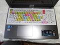 ノートパソコン用拡大文字カバーの製作