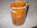 飴釉花瓶(タタラ)