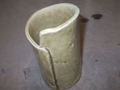 黄瀬戸花瓶(タタラ)