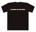 ALCOHOL BLACK KIDS T-Shits BLACK