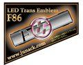 LEDトランスエンブレムF86 アンバー