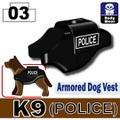 K9軍用犬ベスト プリント付き(police)