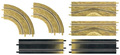 Carrera Go!!! 1/43 Slot Car Parts ラリーエクステンション 6枚セット 61643