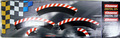 Carrera 1/32 1/24 スタンダード カーブ 1/60 アウト側 ショルダー 3枚セット(180度分 エプロン付属)20561