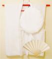 【レンタル】白のちゃんちゃんこセット(無地)レンタル3泊4日◆百寿・白寿祝いに
