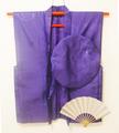 【レンタル】紫のちゃんちゃんこセット(鶴亀甲柄)レンタル3泊4日古希・喜寿祝いに