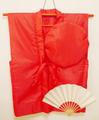 【レンタル】赤いちゃんちゃんこセット(無地)レンタル3泊4日◆還暦祝いに