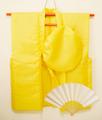 【レンタル】黄色のちゃんちゃんこセット(無地)レンタル3泊4日◆米寿・卒寿祝いに