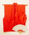 【レンタル】赤いちゃんちゃんこセット(鶴亀甲柄)レンタル3泊4日◆還暦祝いに