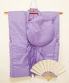 【レンタル】紫のちゃんちゃんこセット(無地)レンタル3泊4日◆古希・喜寿祝いに