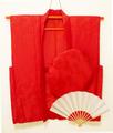【レンタル】赤いちゃんちゃんこセット(正絹・鶴亀甲柄)レンタル3泊4日◆還暦祝いに