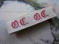 アンティーク*イニシャルテープ (OT)ひげ文字