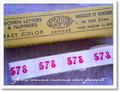 アンティーク*ナンバーテープ/578