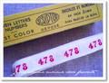 アンティーク*ナンバーテープ/478