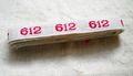 アンティーク*ナンバーテープ/612箱なし