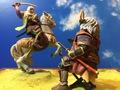 川中島合戦八幡原の戦い 武田信玄と上杉謙信一騎打ち ジオラマA5サイズ