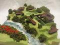 武田の城 牧の島城 お城 ジオラマ 完成品