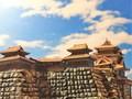 諏訪高島城天守閣 お城 ジオラマ 完成品
