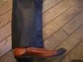 革パンツ 裾 スソ 修理、リペア、リフォーム、カスタム