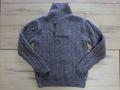 英国羊毛の手編みプルオーバー