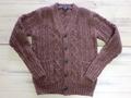 英国羊毛の手編みカーディガン