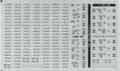 [KLM204BA] 223系 日根野 車番/表記①(2500番台車番/表記・0番台表記)【単色刷りインレタ】