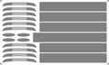 [KLX281C] 681系・683系 前面帯/側面窓周り帯【単色刷りインレタ】