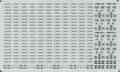 [KLM204BC] 225系 日根野 車番/表記①(5000番台 車番/表記)【単色刷りインレタ】