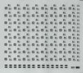 [KLM203B] 221系妻面表記【単色刷りインレタ】