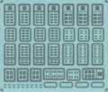 [KLP103BM] 西日本パーツ集<113系・115系>(前面窓枠・自販機コーナーなど)【メタルインレット】