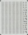 [KLM210AB] 227系 車番/表記(広島0番台2連)【単色刷りインレタ】