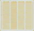 [KLX201AA] 客ドア下 警戒帯(西日本①-黄色)【単色刷りインレタ】
