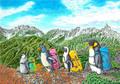 ペンギン登山(A4ポスター)