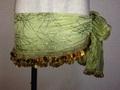ヒップスカーフ(オリーブグリーン×金コイン2種類)HPW-ST11(※ワケあり1,000円引)