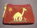 エジプト製ポーチ(小)ラクダ