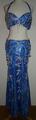 エジプシャン衣装(ブルー銀・豹柄) FLW-E03