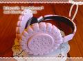 送料無料☆ビスケットヘッドフォン plus☆amai biscuit ver.ピンク