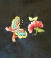 手刺繍パーツ(絹*蝶・花)
