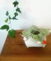 kit 花巾着 -青柿