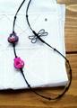 手刺繍×とんぼメドゥプのロングネックレス