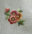 手刺繍パーツ(絹*花)