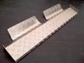 ジムニーJA22用アルミ ルーフ ラックボード縞板