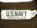 1940 年代 U.S. NAVY Vネックセーター( DEAD STOCK ・オリーブドラブ)