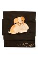 ぼんやり顔の犬刺繍 作り帯